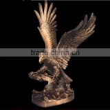 Casting bronze, brass eagle sculptures in metal art