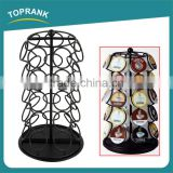 Big Coffee Pod Holder Rotating Revolving Metal Coffee Capsule Storage Tower Rack