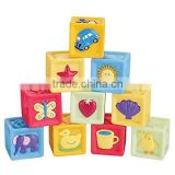 Baby Learning Blocks set baby blocks toys non-toxic soft plastic Cartoon Cube Building Blocks Children Educational Toy