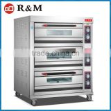 3 Rack Bakery Ovens,6 Trays Limestone Floor Bakery Oven in Dubai