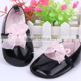 2014 New Baby shoe kids fashion baby leather shoe girls princess PU leather shoes for walking
