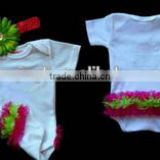 2015 Hot Sale Baby Girl Clothes Ruffle Bottom One-Piece Personalized Romper Baby Girl Ruffle clothes