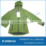 women's green solfshell jacket