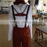 walson clothes apparel 2015 Wholesale Adult Bavarian Beer Man German Oktoberfest Lederhosen Fancy Dress Costume Mens