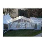 Clear PVC Fabric Outdoor Party Tents With Wooden Flooring 6m * 10m