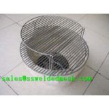 Stainless steel welded barbecue grill