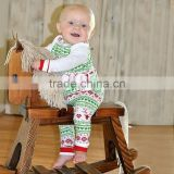 Wholesale cute baby Christmas reindeer holiday outfits children clothing set baby boy picture