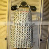 100% cotton women breast feeding apron nursing poncho cover up in active priniting pattern