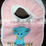 Baby Bibs with Embroidery Designs Elephants for Infants