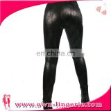 2016 newest item wholesale black pvc women sexy low-waist leggings