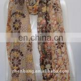 OEM the new style paris silk scarf