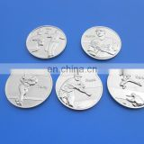 5 baseball sports design plated silver metal challenge coin