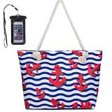 waterproof fabric beach tote bag for travel