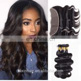 wholesale human hair extensions brazilian hair body wave 13*4 transparent lace frontal