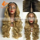 Body Wave Long Blonde Brazilian Hahir Full Lace Wig With Baby Hair Glueless Lace Front Wig From Qingdao Wig Manufacturer