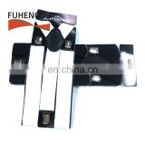 White Black Suspenders for Women Men Adjustable Double Clip Y Shape Hold up Suspenders