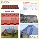 Buliding materials red stone-coated metal roof tiles for Africa                                                                         Quality Choice