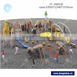 JT-3601B slide & climb sport game kids outdoor obstacle course equipment outdoor exercise equipment