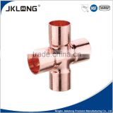 J9714 Cross 4 way solder joint copper fitting for pipe