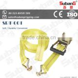 lashing woven belt ratchet tie down belt