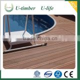 WPC swimming pool decking floor from U-timber composite board waterproof