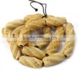 OB030 For bracelets or necklace carved chunky bone beads