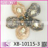 Korean Customize flowers Copper rhinestone crystal fashion Exquisite wholesale garment accessories