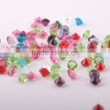 Table crystal diamond, crystal confettis, unfoiled crystal charons, pointed back glass stones for wedding party events