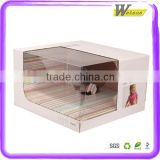 Baby Clothes/ Smart Watch /Bottle Coffee Flvour Corrugated Packaging Box With PVC/PET Window