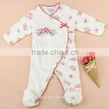 Baby Coverall Footed Pajama Smocked Velour 1 pc Sleep & Play Footie Romper