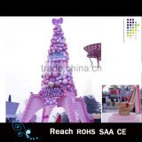 Newest fancy handicraft pink balls christmas tree event wedding party decoration