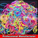 Rainbow colorful loom rubber bands