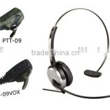 Super lightweight over-the-head two way radio headset with flexible boom microphone WT1001