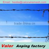 2014 hot sale hot dipped electro galvanized used barb wire for sale