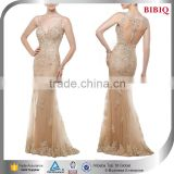 transparent lace dress zuhair murad nude tulle evening dress sequin jeweled backless tulle wedding dress prom homecoming dresses                                                                         Quality Choice