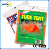 2.5 mil Polyethylene Lightweight 2 Person Fire Retardent Emergency Shelter Tube Tent