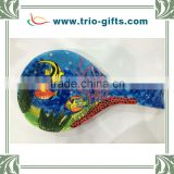 Hot wholesale ceramic spoon tropical fish decoration