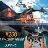M250 6aixs Gyro 2.4Ghz 4CH Remote control Drone Third Gear Shift RC Helicopter Quadcopter High Speed RTF