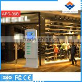 Kazakhstan Tenge Operated Secure Public Phone Charging Kiosks/Vending Machine Mobile Charger APC-06B