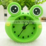 2015 HOT customized cartoon animal character cheap promotional item silicone table clock