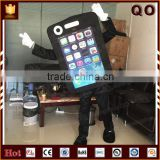 Attractive outdoor advertising color customized mobile phone character mascot costume