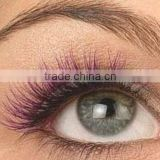 2014 new fashion style handtied eyelash,synthetic two tone color false strip eyelash,hand made colorful false eyelash