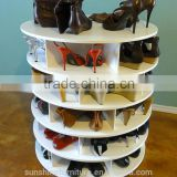 modern design round commercial furniture type display shelf , shoe rack for home or shop use