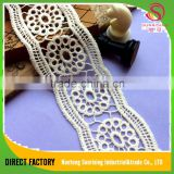 Best price white 5cm 100% cotton embroidery chemical lace trim for dress,garment,hometetile,bedding