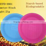 9 inch plate biodegradable disposable plastic dishes                                                                         Quality Choice