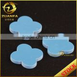 wholesale machine cut 12*12mm four leaf clover turquoise beads