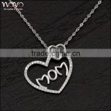 Wholesale 925 silver necklace with zircon