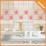 Popular and removable waterproof vinyl bathroom wall tile stickers