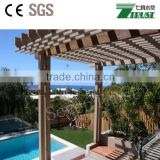 outdoor Non poisonous,Comfortable,Long use life ecological wood plastic composite wpc pergola&gazebo