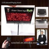 Remote control programable Rechargeable LED placard/Paging board/Pick-up card/ Picking cards/Welcome electronic led board